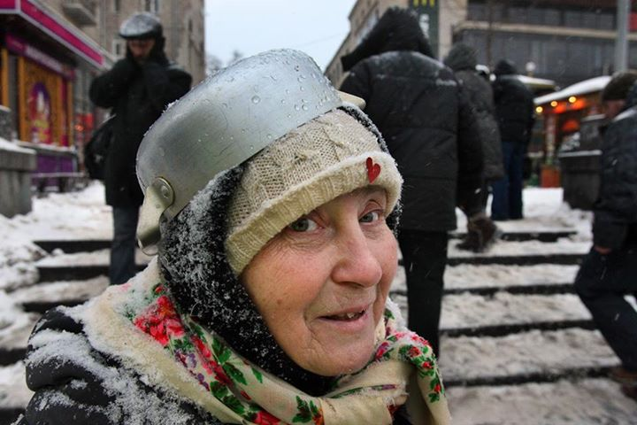 Бабуся готова відбити Беркут